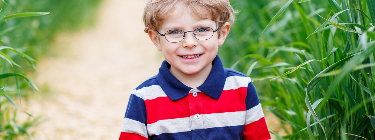 Cute Little Boy Wearing Eyeglasses in Athens
